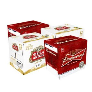 Beers 247 Manchester UK Beer Deal offer Budweiser Stella Artois Lager